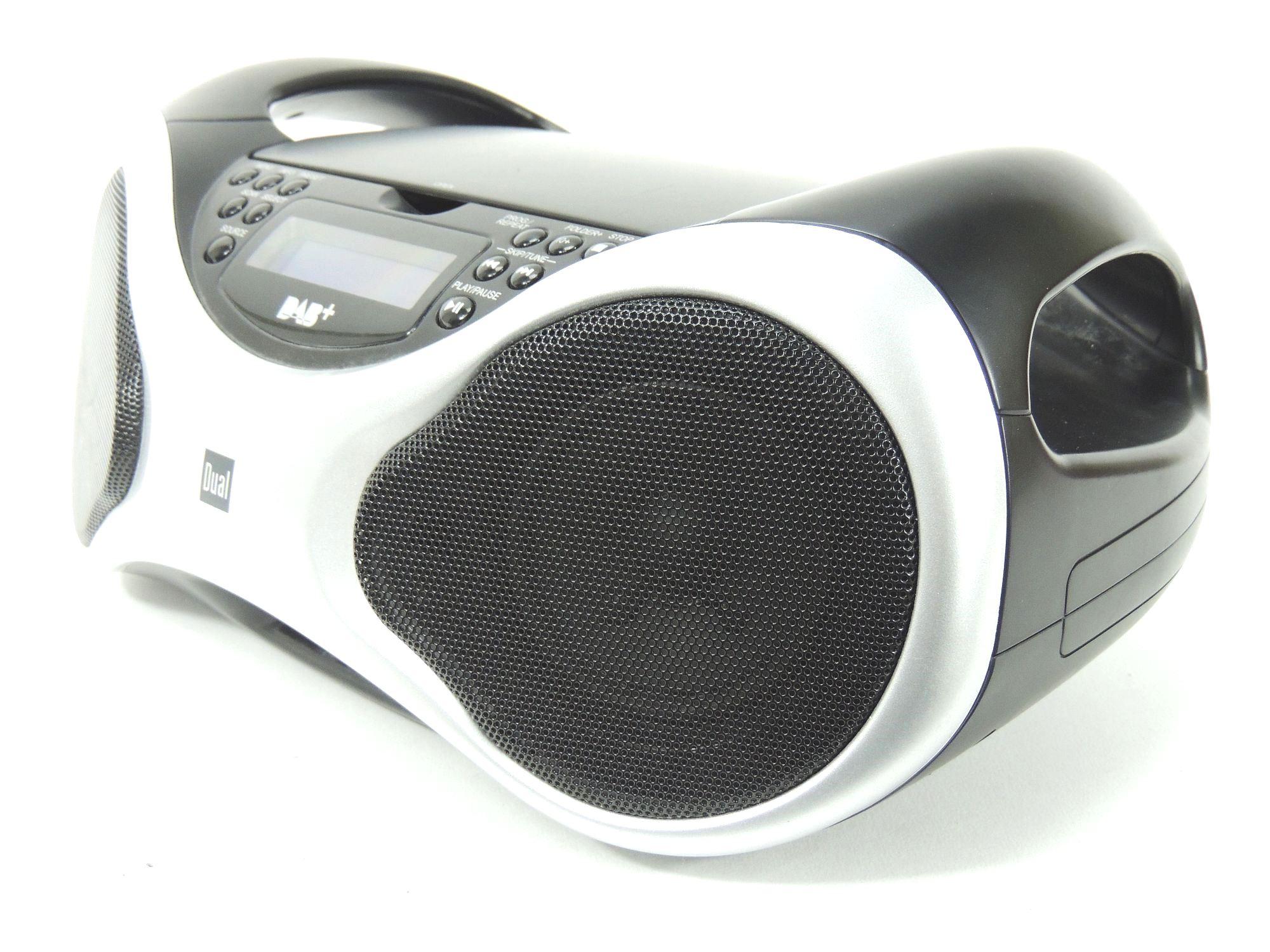 dual dab p 100 portable digitalradio boombox dab radio. Black Bedroom Furniture Sets. Home Design Ideas