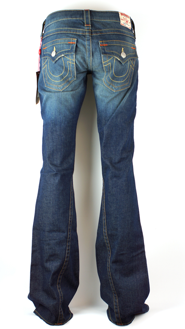 neu true religion joey e55 damen jeans mit schlag hose gr 29 ebay. Black Bedroom Furniture Sets. Home Design Ideas
