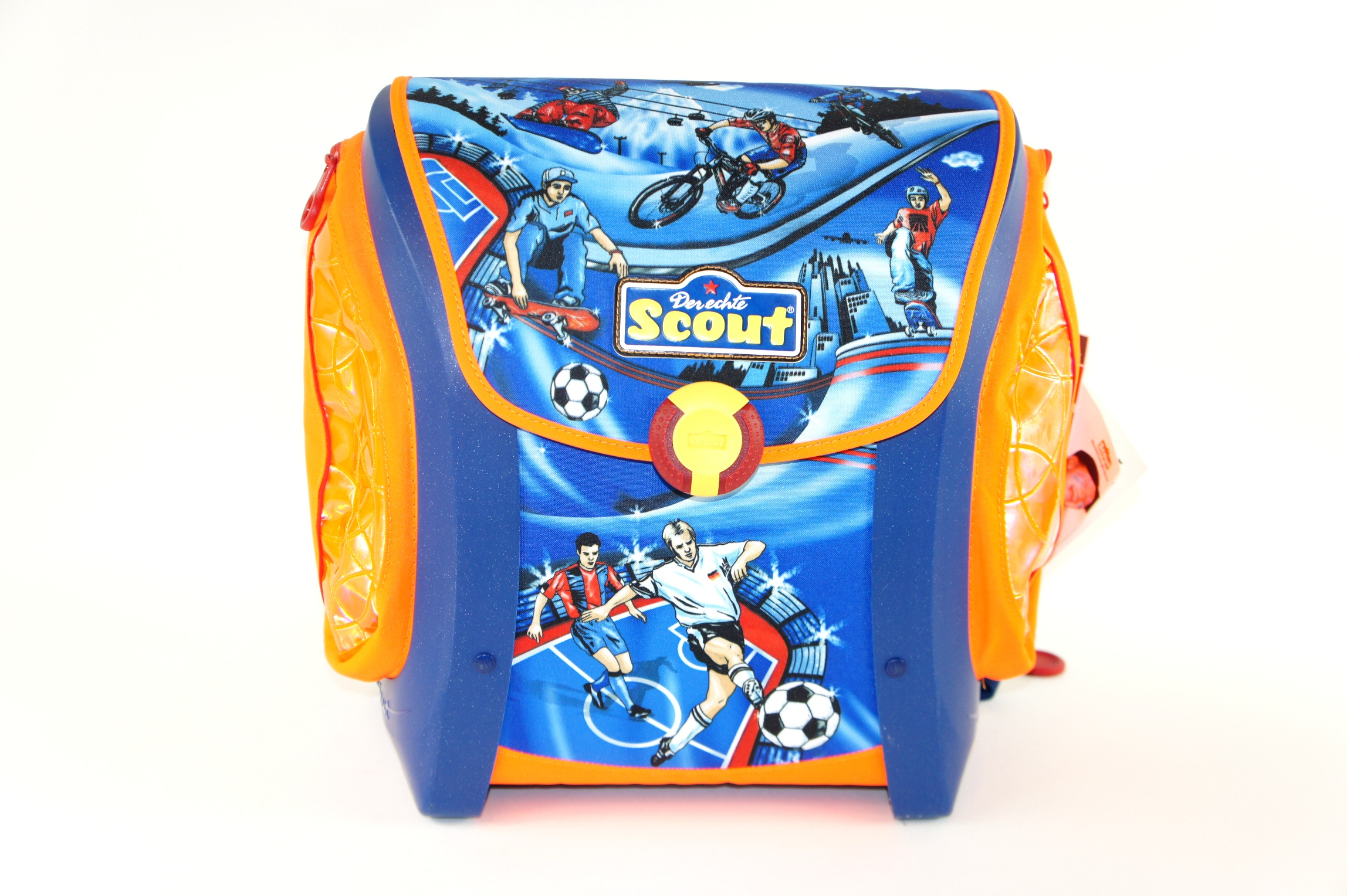 neu scout mega friends sport fu ball skateboard schulranzen ranzen ebay. Black Bedroom Furniture Sets. Home Design Ideas