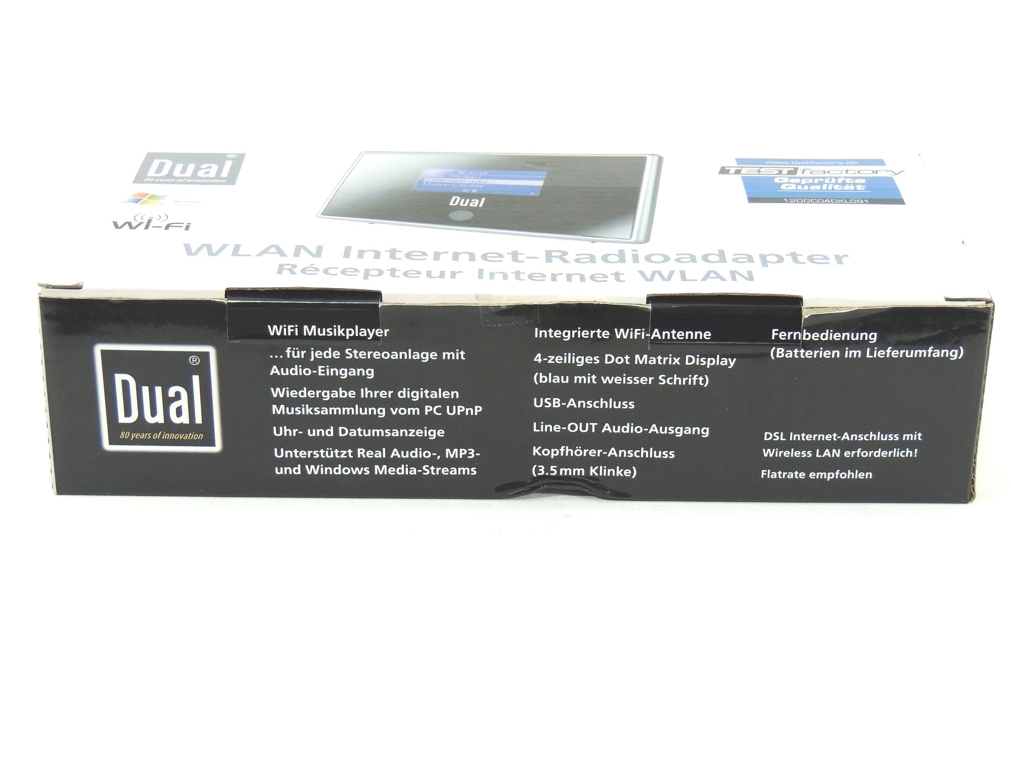 dual ir 1a wlan internetradio adapter silber schwarz ovp b ware ebay. Black Bedroom Furniture Sets. Home Design Ideas