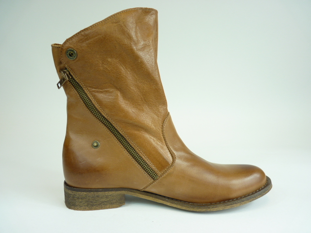 YIN Hailey Damen Stiefel UVP 256 Leder Gr 40 UK 6 5 Braun Boot Stiefelette